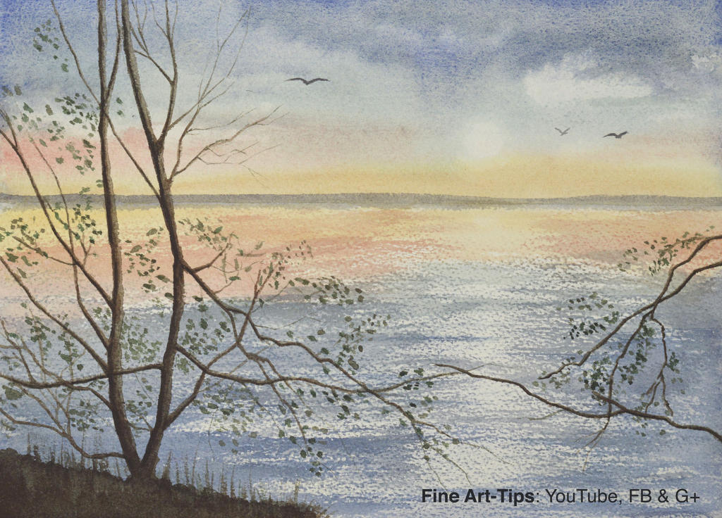 How to Paint a Seascape With Reflections by ArtistLeonardo
