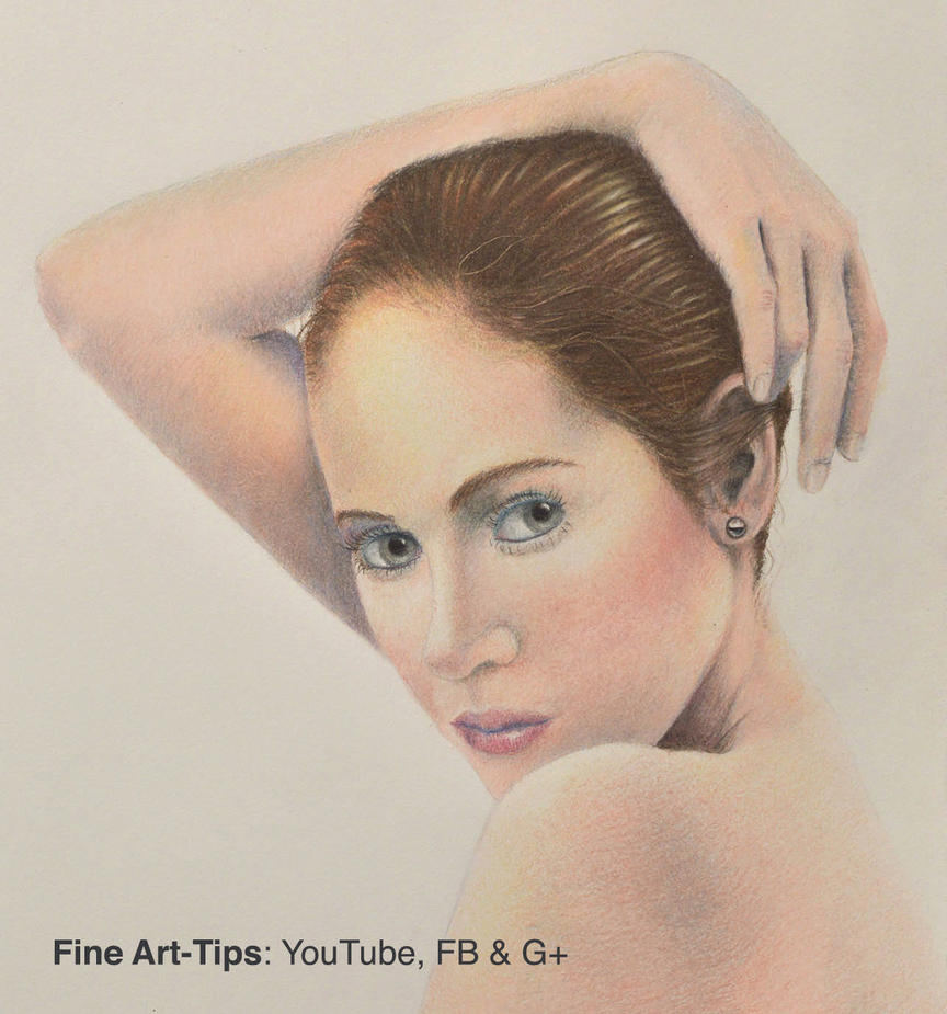 How to Draw Realistic Flesh With Color Pencils by ArtistLeonardo
