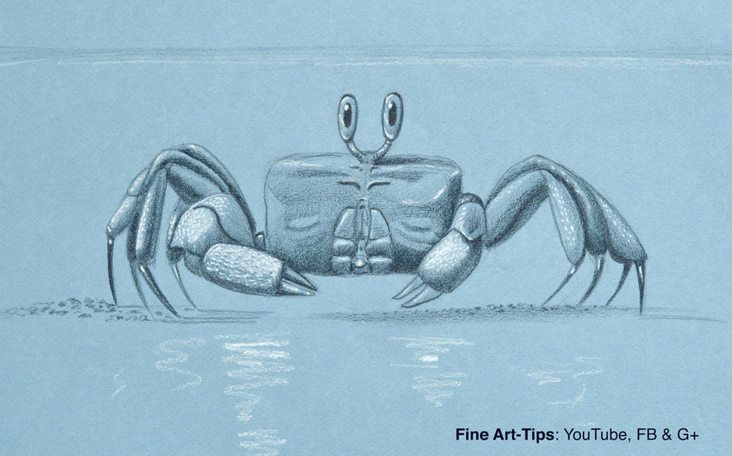 How to Draw a Ghost Crab - Easy and Narrated by ArtistLeonardo