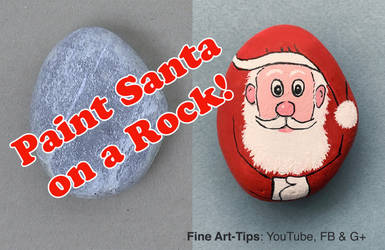 How to Paint Santa Claus on a Rock - Narrated by ArtistLeonardo