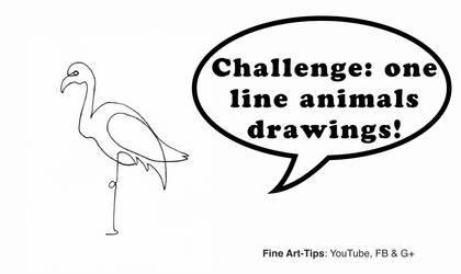 Challenge: One-Line Animal Drawings! by ArtistLeonardo