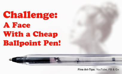Challenge: Drawing a Pretty Face With a Cheap Pen by ArtistLeonardo