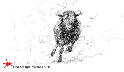 HOW TO DOODLE A BULL - Narrated drawing tutorial