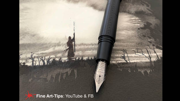 HOW TO DRAW A WIZARD WITH PEN AND INK - Easy