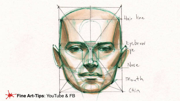 HOW TO DRAW THE HEAD PROPORTIONS - By Ferhat Edizk
