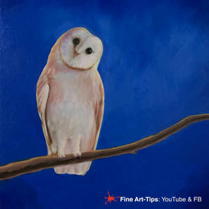 HOW TO PAINT AN OWL WITH OIL PAINTS