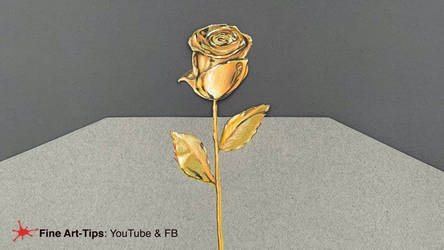 HOW TO DRAW A GOLDEN ROSE