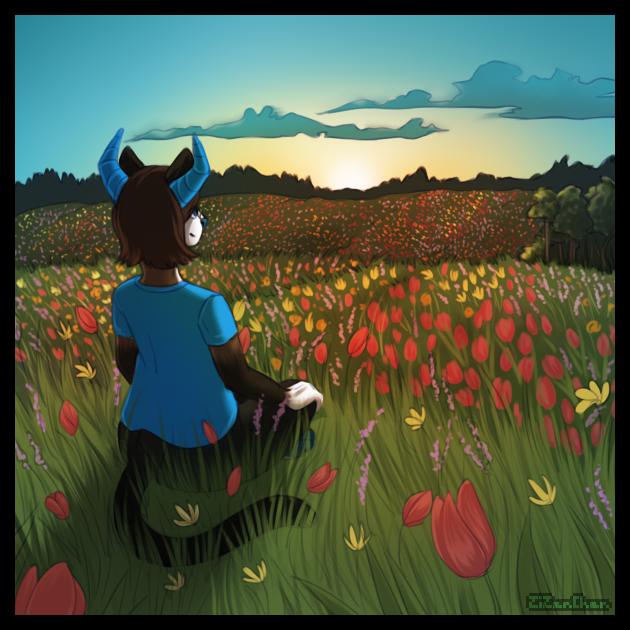 Flower field by ZizanChan