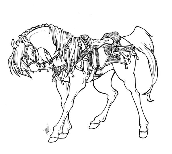 how to draw a cute baby horse