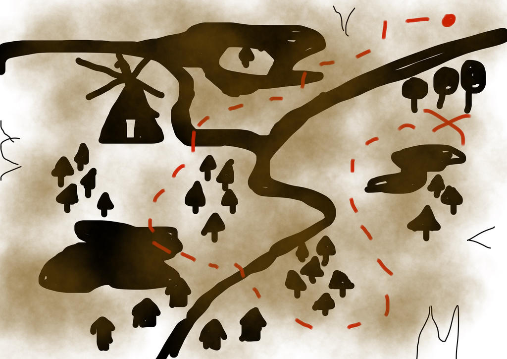 treasure map by muravei