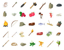 Set of some icons for a game