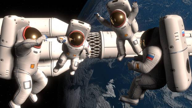 Blender3D Spacemen