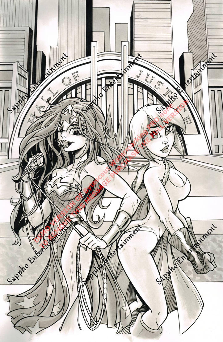 Wonder Woman and Power Girl by PonyGoddess