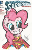 Pinkie Pie as Supermare by PonyGoddess