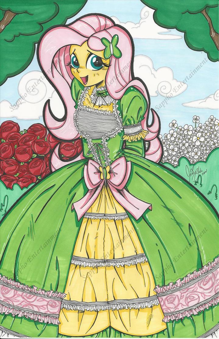 Lolita Fluttershy Print by PonyGoddess