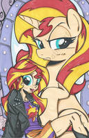 11x17 Sunset Shimmer print by PonyGoddess
