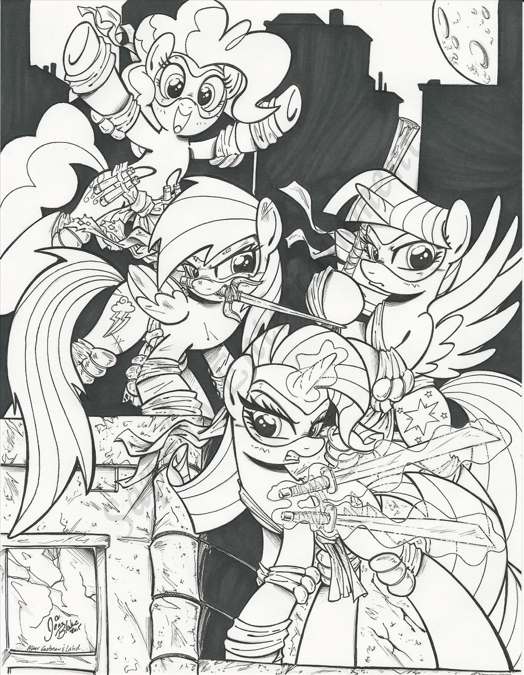 Teenage Mutant Ninja Ponies Commissions by PonyGoddess