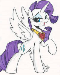 Alicorn Rarity commission by PonyGoddess