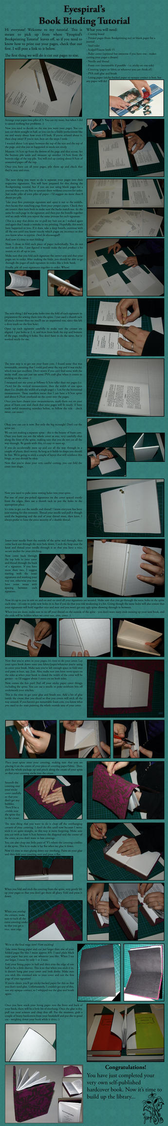 Book Binding Tutorial by Eyespiral-stock