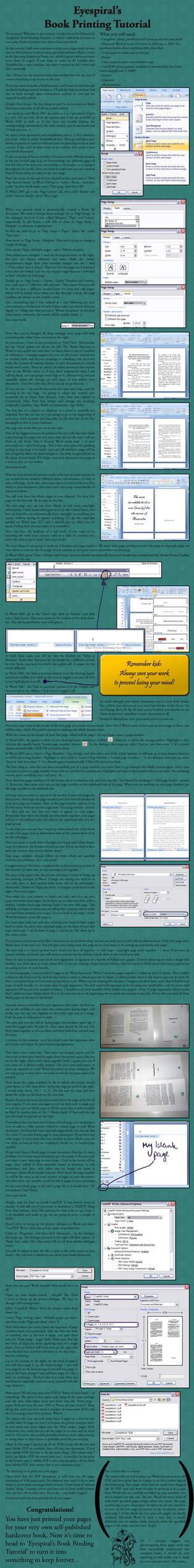 Book Printing Tutorial