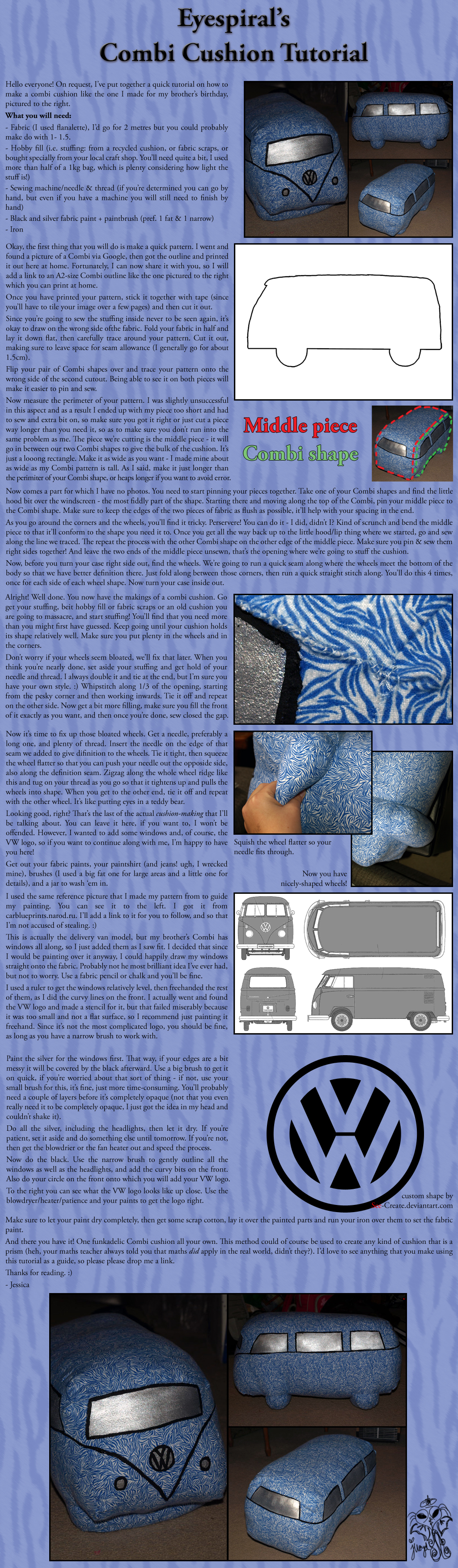 Combi Cushion Tutorial by Eyespiral-stock