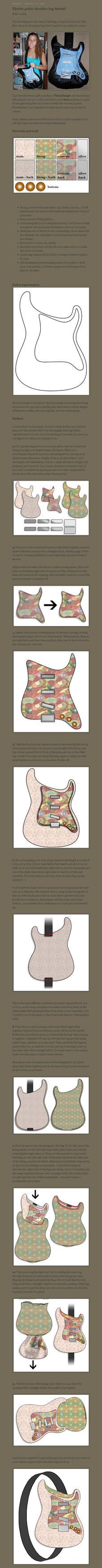 Electric guitar bag tutorial