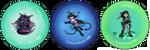Stardragon Button Designs by VenusRain