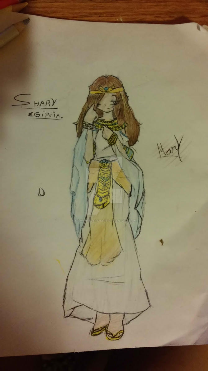 Shary con ropa egipcia by MaryTheCatShary