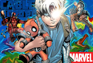 Cable and Deadpool by bobhertley