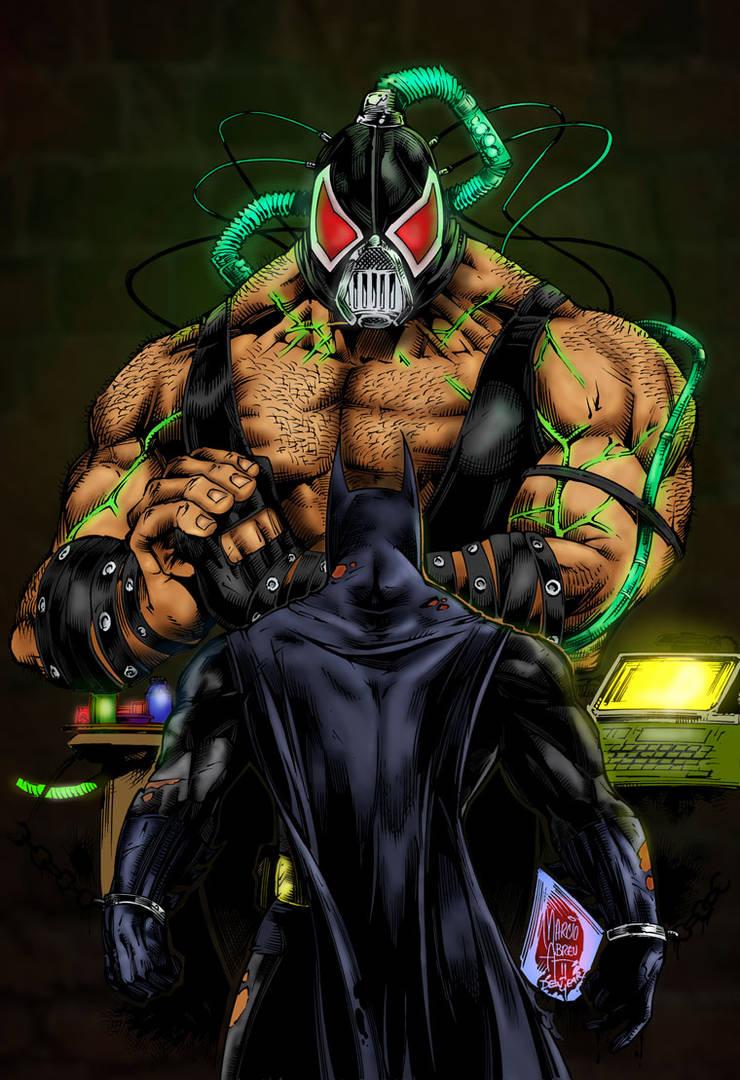 Batman Vs Bane by bobhertley