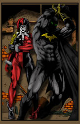 Batman And Harley Quinn by bobhertley