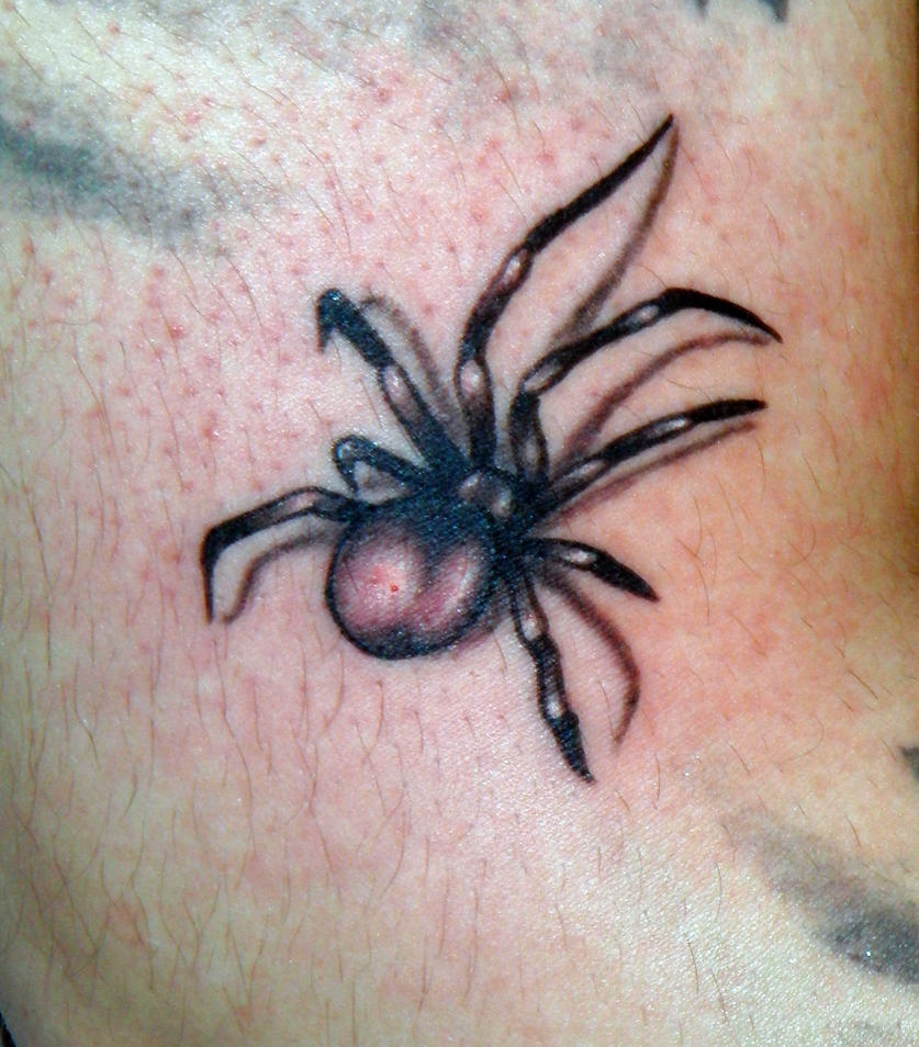 spider tattoo by JennyPennyPasta