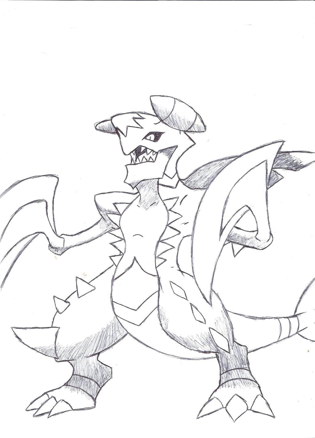 mega garchomp by deviantbuu427 on deviantart easy pokemon coloring pages pokemon mega garchomp coloring pages
