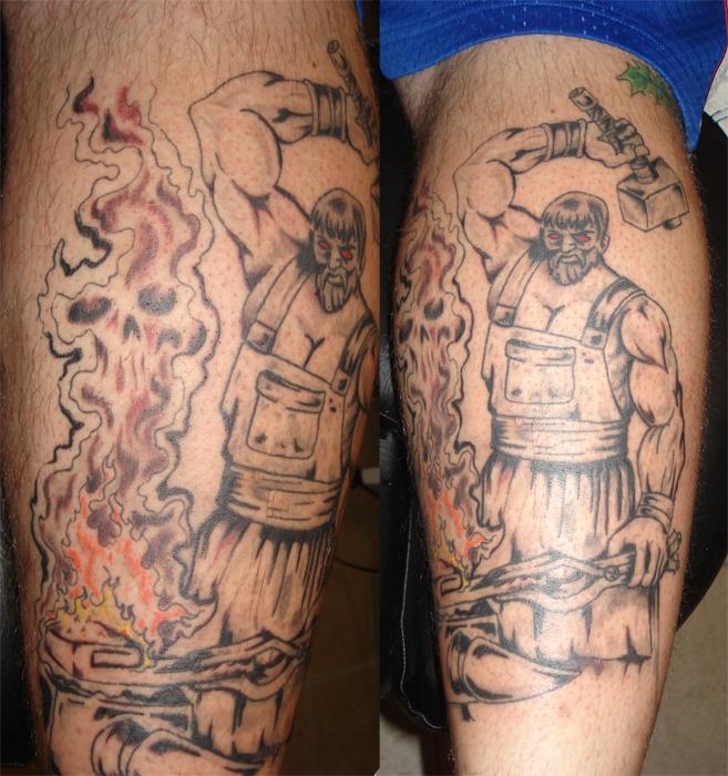 blacksmith tattoo designs the image kid