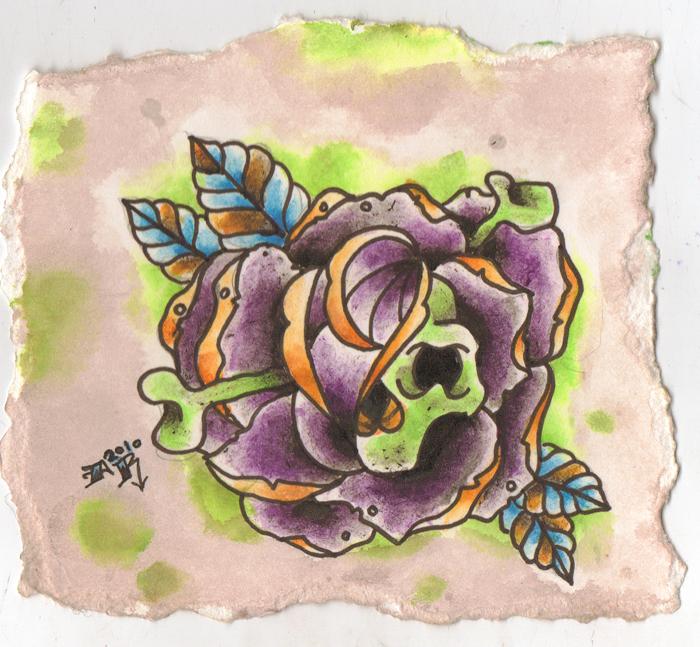 skull rose by oldschoolsinner on deviantART