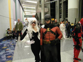 Red Robin and Black Cat by TimDrakeRobin