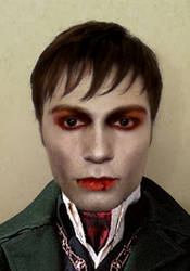 Barnabas Collins Makeup Test by TimDrakeRobin