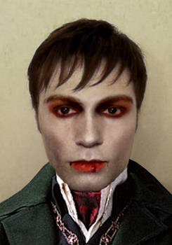 Barnabas Collins Makeup Test