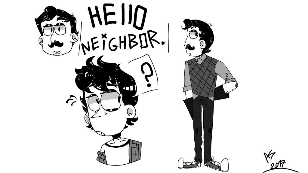 Hello, Neighbor. By ASRussia On DeviantArt