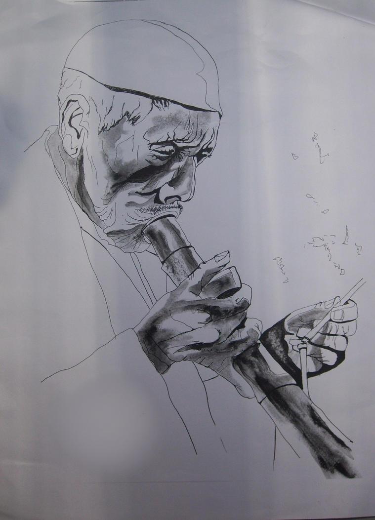 Opium smoker. by Finnegas