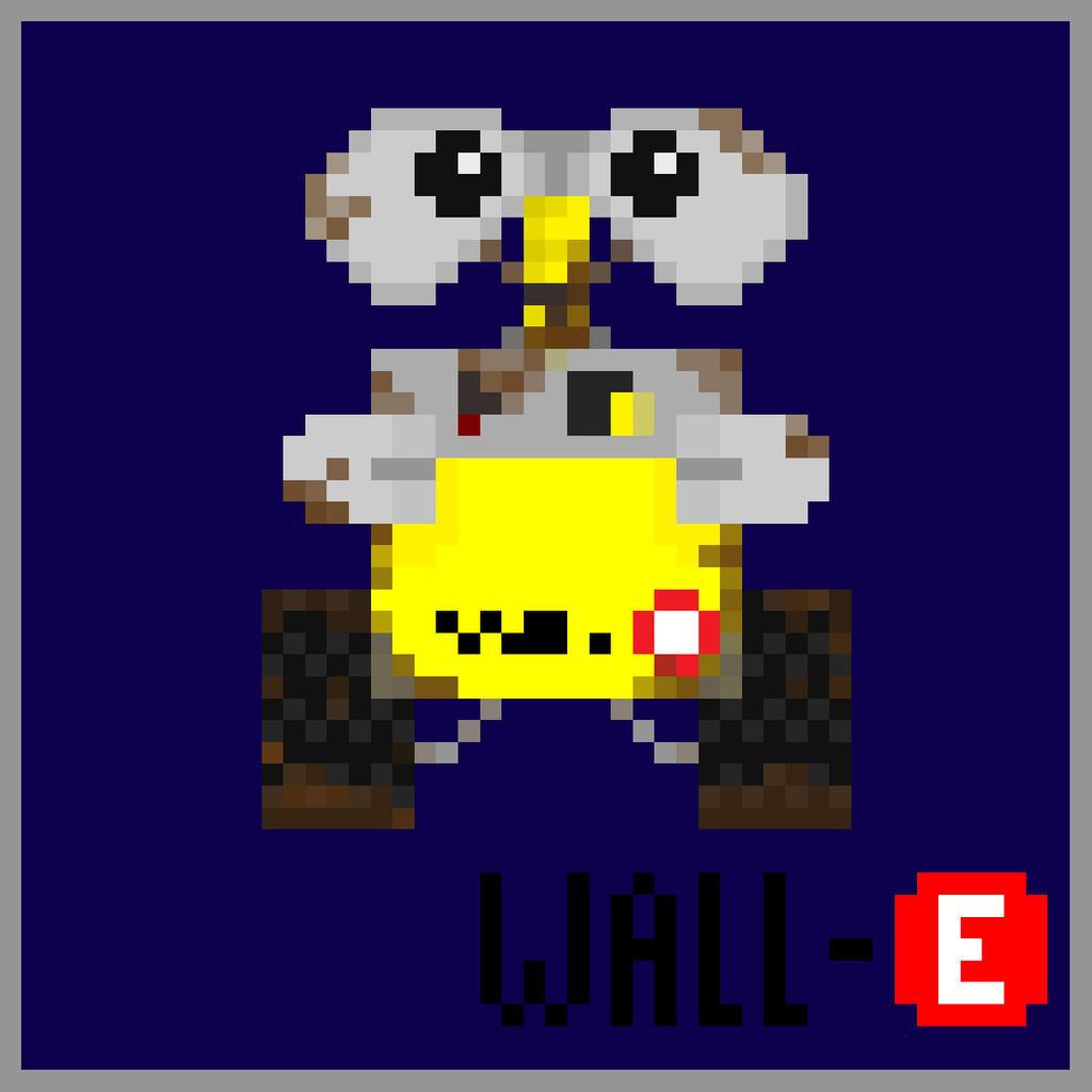 wall-e pixel art