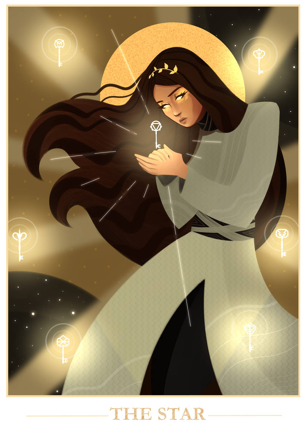 Julia's tarot card -The Star (Contest Entry) by coryph on