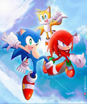 Sonic Heroes Cover Fan Art!