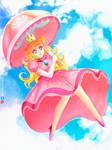 Princess Peach Fan Art by jonnisalazar