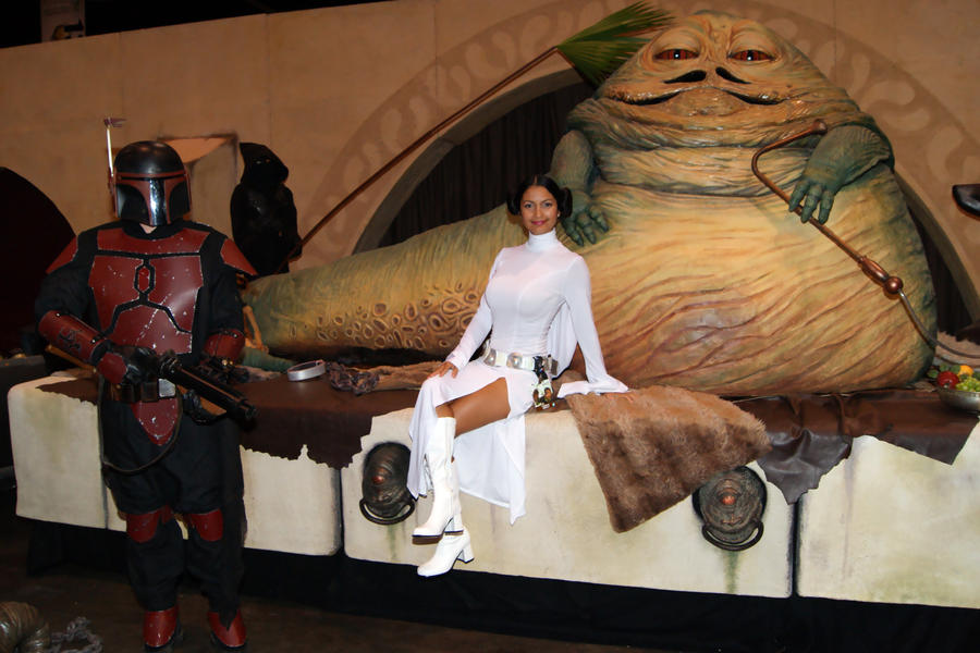 Princess Leia and Jabba the Hutt by Ivy95 on DeviantArt Jabba The Hutt And Princess Leia Costume