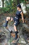 Lara Croft at the River