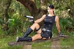 Lara Croft relaxing