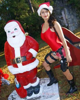 Lara Croft and Santa Claus