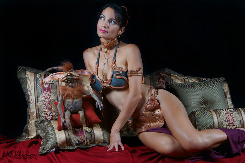 Salacious Crumb and Slave Leia by Ivy95
