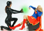 Catwoman and Supergirl